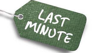 Last minute - Superschnäppchen sparen Sie 10 %