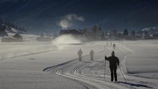 Langlaufen in den Dolomiten