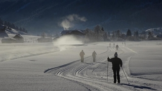 Incanto sulle piste di fondo nelle Dolomiti